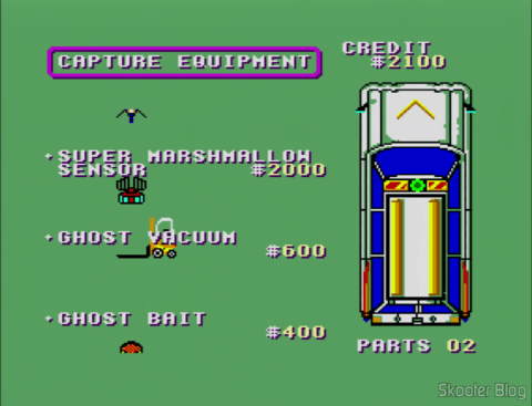 Buying items in Ghostbusters - Master System