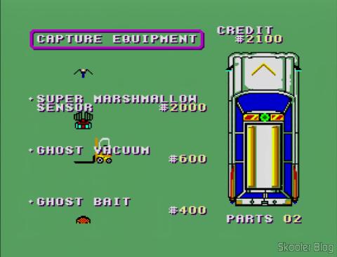 Comprando itens em Ghostbusters - Master System