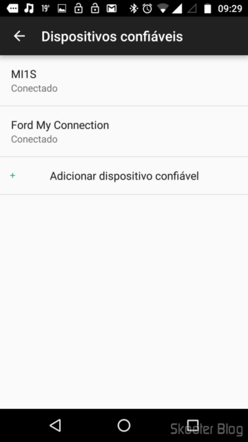 Adding a Mi Band 1S on trusted devices list of Smart Lock
