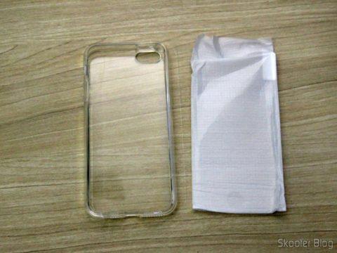 Capa e Película de Vidro para iPhone 5S