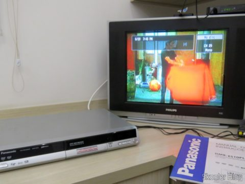 DVD recorder Panasonic DMR-ES10 table connected to the TV and tuned the SBT of analog broadcast TV
