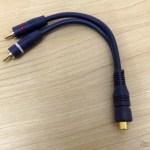 Cabo Y 2 Plug RCA X Jack RCA 20cm