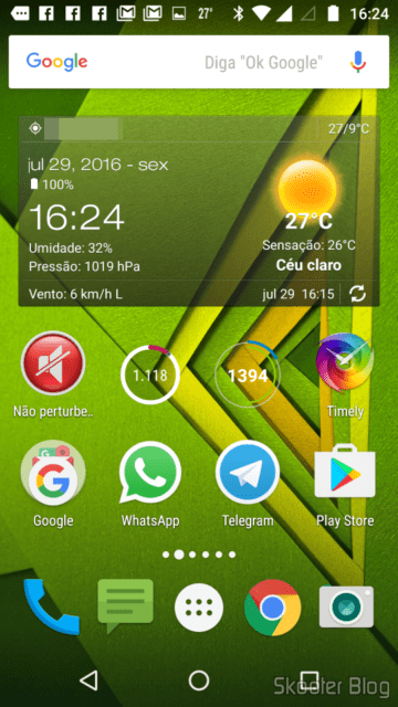 Mi Band Tools widget on the home screen