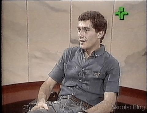 Ayrton Senna in the Roda Viva program in 1986