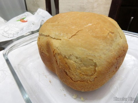 The first bread: Traditional white bread made in the Normal Cycle