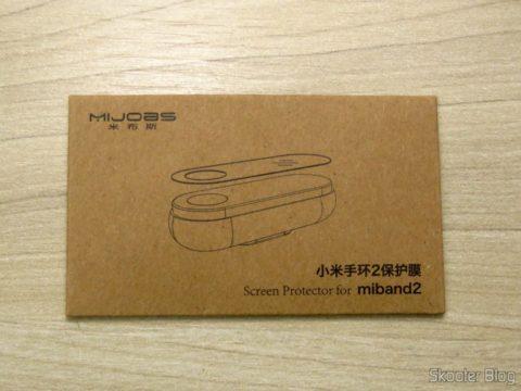 Películas Protetoras para Xiaomi Mi Band 2, em sua embalagem