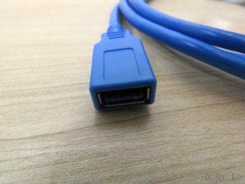 Plug fêmea do Cabo de Extensão USB 3.0 Macho para Fêmea