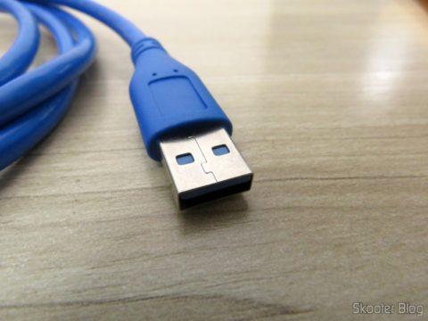 Plug macho do Cabo de Extensão USB 3.0 Macho para Fêmea