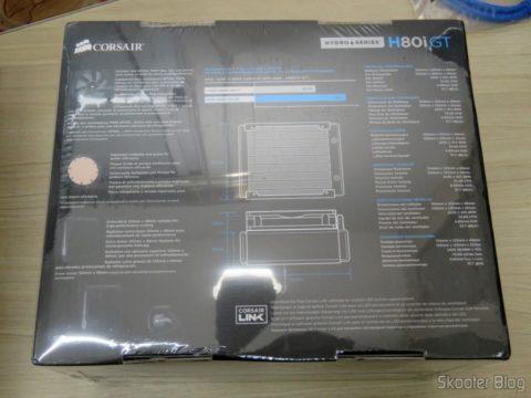 Cooler líquido para CPU Hydro Series™ H80i GT, em sua embalagem