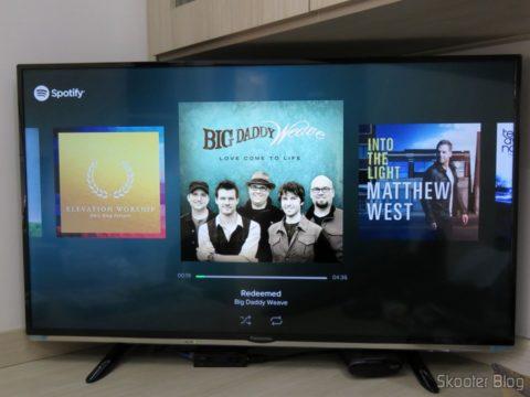 Testing the Spotify in Chromecast 2