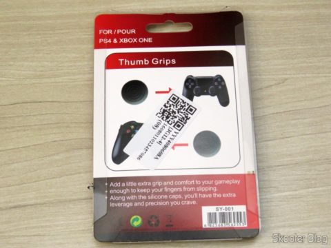 Thumb Grips for Playstation 4, XBox One, Playstation 3 and Xbox 360, on its packaging