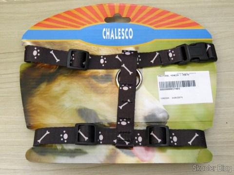 Peitoral Veneza Preto para Cães, em sua embalagem