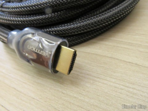 Plug do Cabo HDMI 2.0 4K-3D 60 Hz Vention of 5 meters