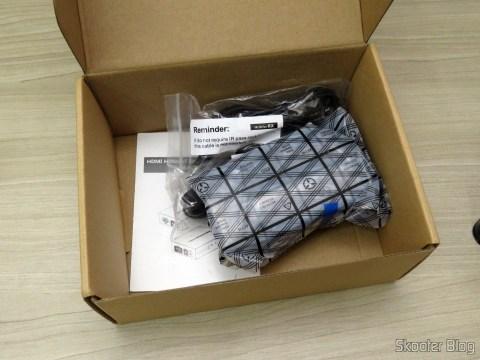 Fonte de Alimentação, manual e cabos IR do Extensor HDMI Lenkeng LKV375 HDBaseT