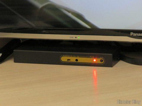 Decodificador e Extrator de Áudio HDMI para HDMI, SPDIF e Analógico 5.1, em funcionamento