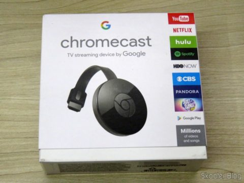 Google Chromecast 2, in its sealed package