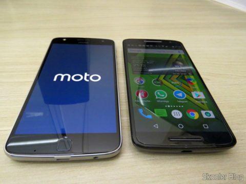 Moto Z Play, ao lado do Moto X Play