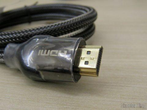 Plug do Cabo HDMI 2.0 4K 3D 60Hz Vention de 75 centímetros