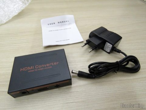 HDMI Audio Extractor for SPDIF and analog Stereo RCA, Power supply and instructions