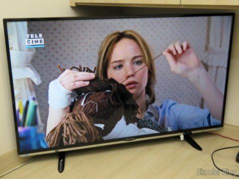 2º Extensor HDMI Lenkeng LKV375 HDBaseT por Par Trançado Único, em funcionamento