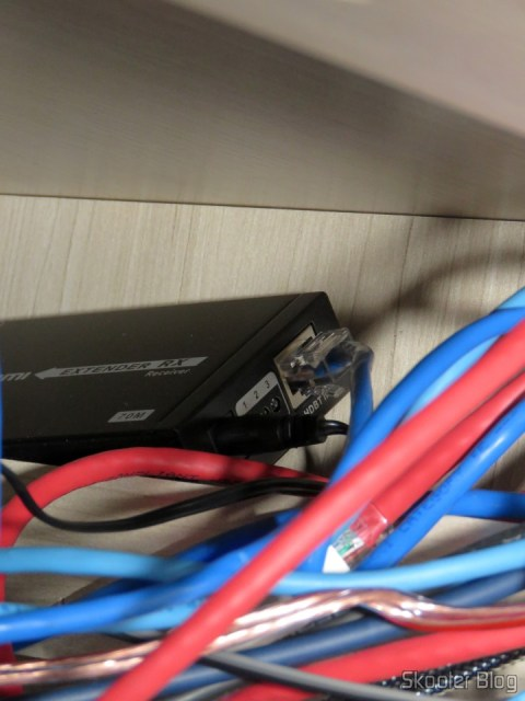 2 HDMI Extender receiver Lenkeng LKV375 HDBaseT by Single twisted pair, hiding in the closet under the countertop