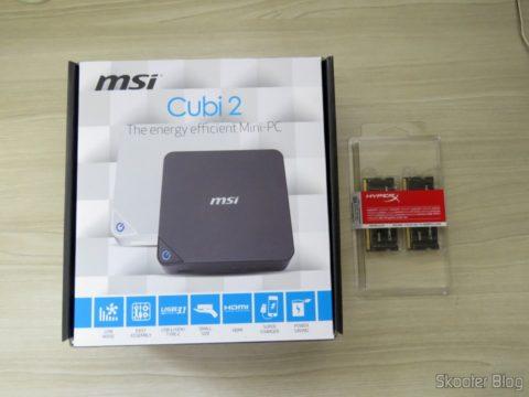 MSI Cubi 2 e módulos de memória Kingston DDR4