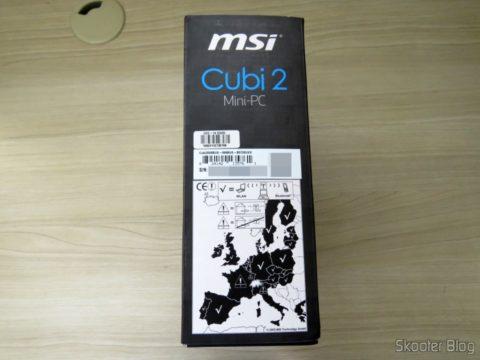 Lateral da embalagem do MSI Cubi 2