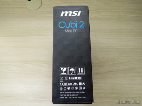 Side of the MSI packing Cubi 2