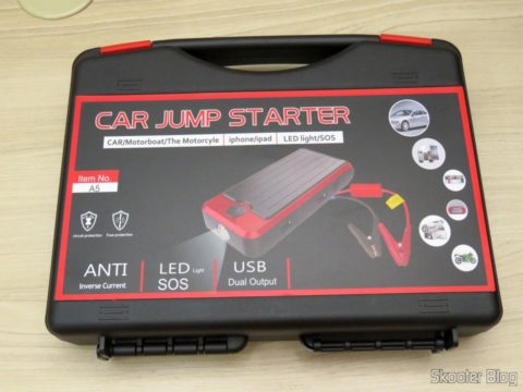 Briefcase with the Mini Powerbank with Jump Starter for Car and motorcycle and accessories