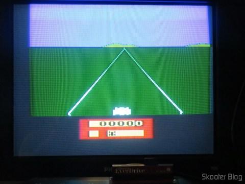 Cores do Enduro no meu Atari VCS americano, com mod de S-Video e Vídeo Composto, após o ajuste de matiz