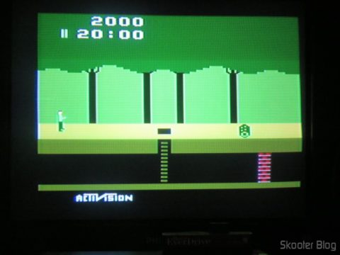 Colors of Pitfall on my Atari VCS American, with mod for S-Video and composite video, After the hue adjustment.