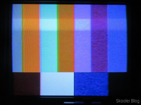 Color Bar Generator on the Atari 2600 the Polivoks c/external source, after heated