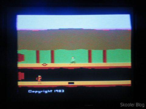 Pitfall 2 no Atari 2600 da Polyvox c/ fonte externa