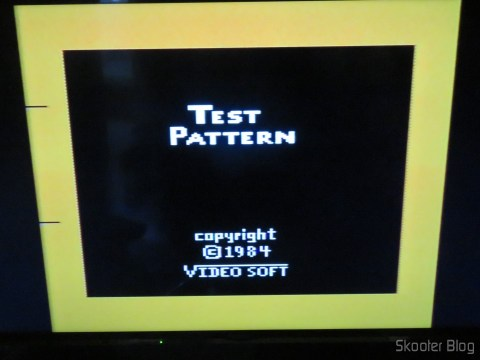 Color Bar Generator on the Atari 2600 the Polivoks c/external source, still cold, in LCD TV
