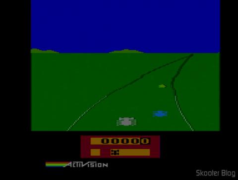 Enduro no Atari 2600 após o ajuste