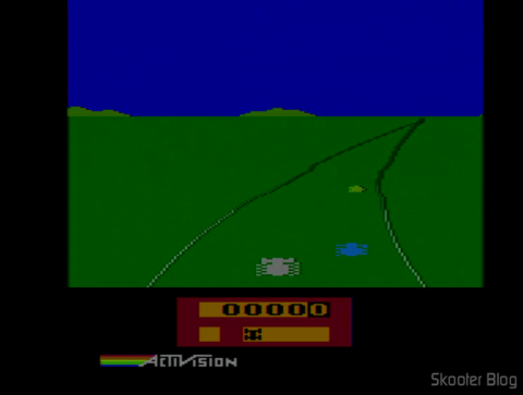 Enduro no Atari 2600 After adjusting