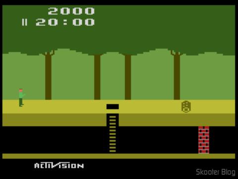 Screenshot of Pitfall in Stella emulator