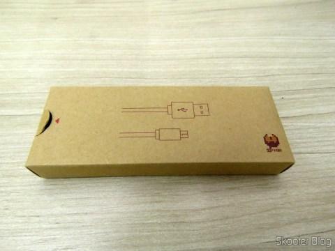 Caixinha do Cabo USB que acompanha o 8Bitdo Crissaegrim NES30 PRO