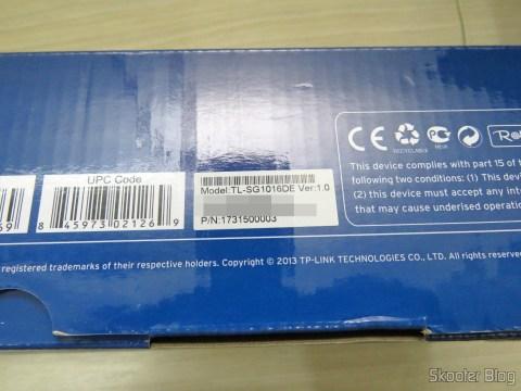 2º Switch Easy Smart Gigabit de 16 Portas TP-Link TL-SG1016DE, em sua embalagem