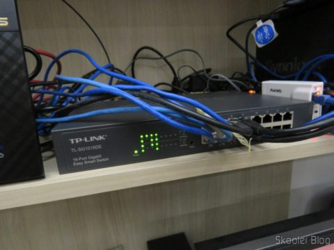 2º Switch Easy Smart Gigabit de 16 Portas TP-Link TL-SG1016DE, após instalado
