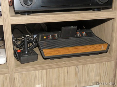 Super Video Cable Pro 3 meters and P2 Cable to 2 Professional RCA 3 meters connected to the Atari VCS/2600