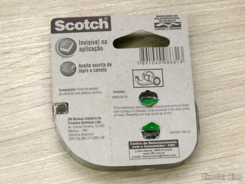 Fita Adesiva Mágica Scotch 12mm x 10m c/ aparelho