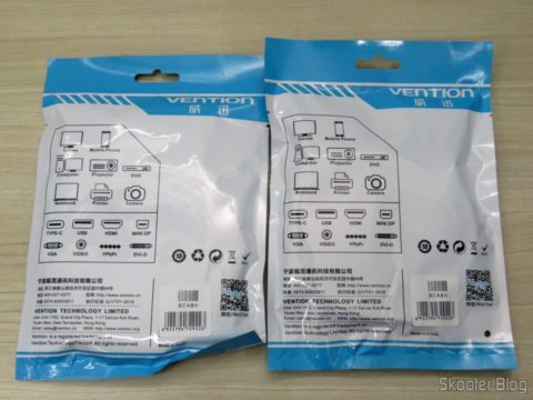 2 Vention Cables 3 RCA to 3 RCA 2 meters, in their packaging