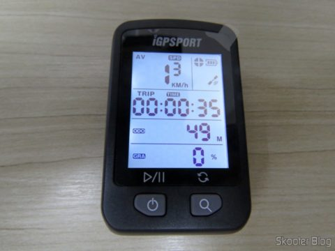 The second screen of the iGPSPORT iGS20E