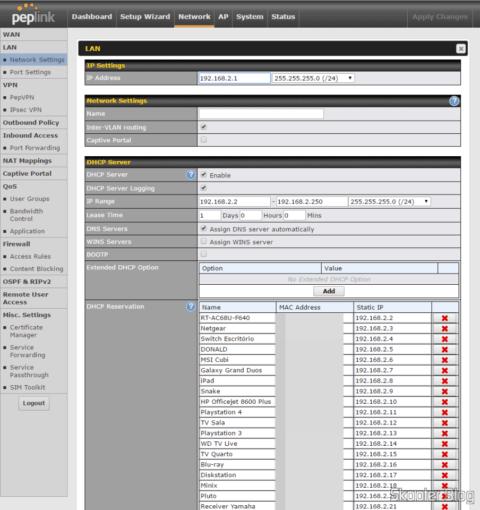 Configuring LAN in the Peplink-Balance One
