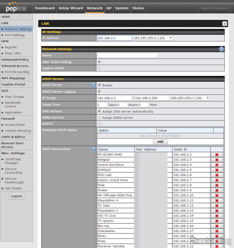 Configurando LAN no Peplink Balance One
