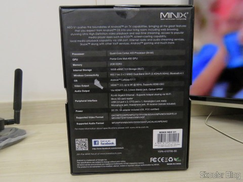Minix NEO U1 case: specifications