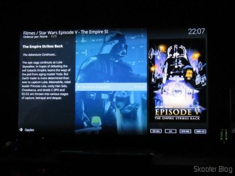 Reprodução do Kodi em DTS-HD Master Audio