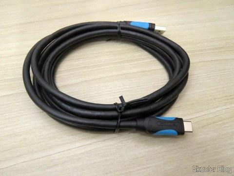 Cabo USB 3.1 Tipo C Vention para Carga e Dados 2m