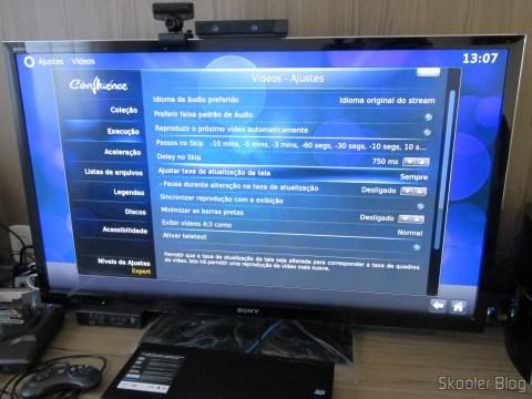 Opção no XBMC para ajustar a taxa de atualização da tela de acordo com a taxa de atualização do vídeo